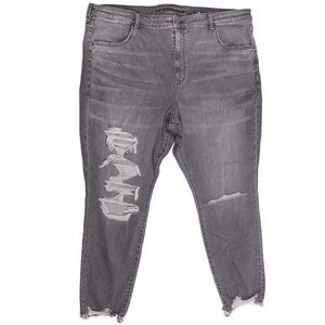 AE American Eagle Jeans Grey Ripped  Plus 24 NWOT